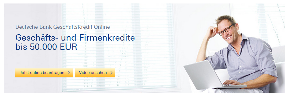 Der Geschäftskundenkredit der Deutschen Bank
