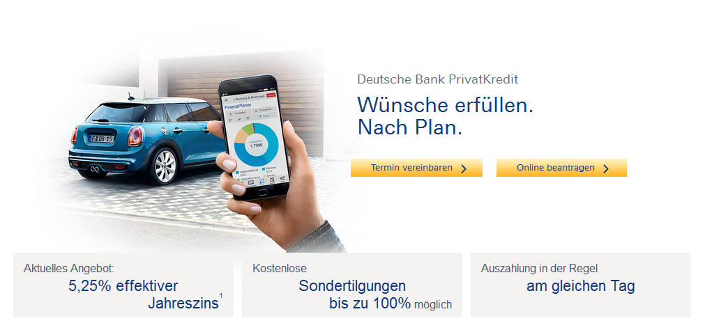 Deutsche Bank Privatkredit