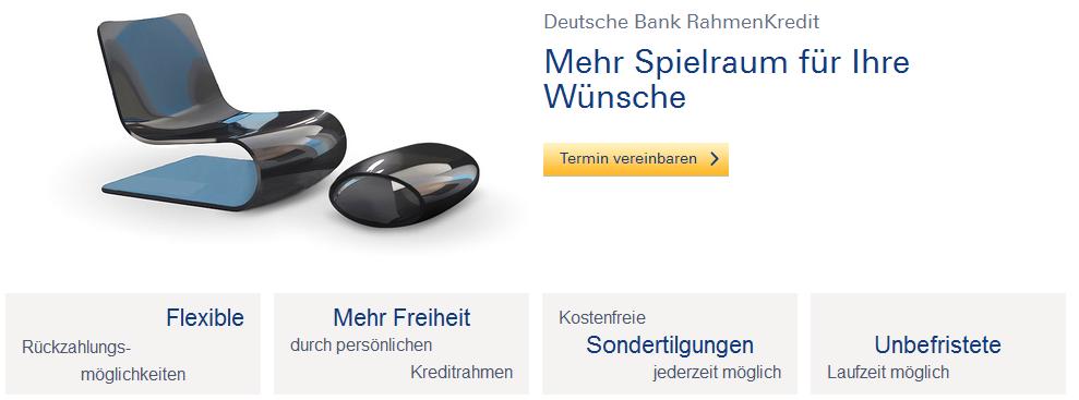 Rahmenkredit der Deutschen Bank