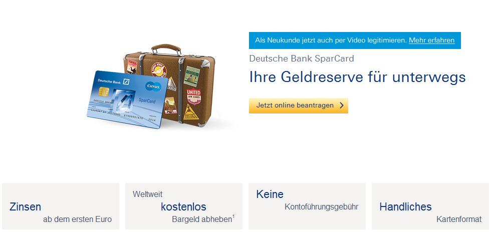 Das flexible Sparkonto der Deutschen Bank
