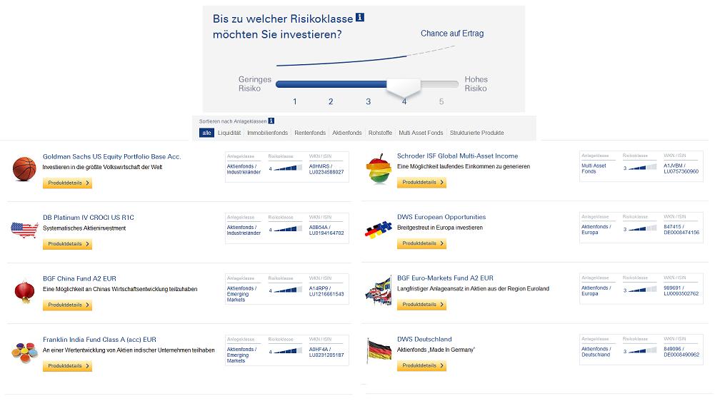 InvestmentFinder der Deutschen Bank