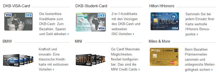 Mehrere Kreditkarten bei der DKB Bank