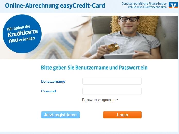 Die Online-Verwaltung der easyCredit Card