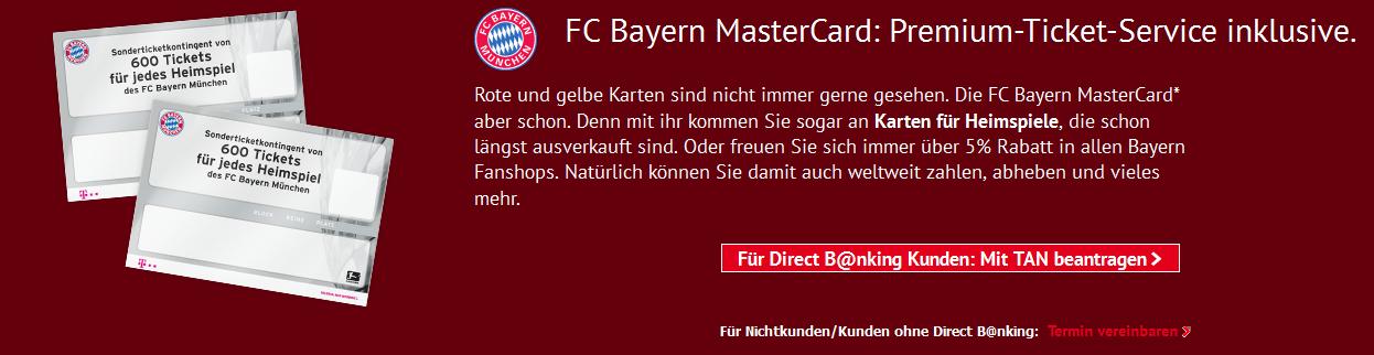 Die FC Bayern MasterCard der HypoVereinsbank