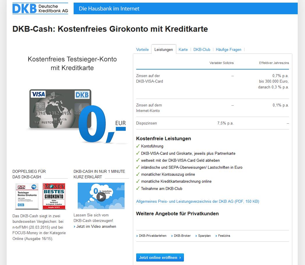 Das kostenlose GIrokonto mit Kreditkarte der Deutschen Kreditbank AG