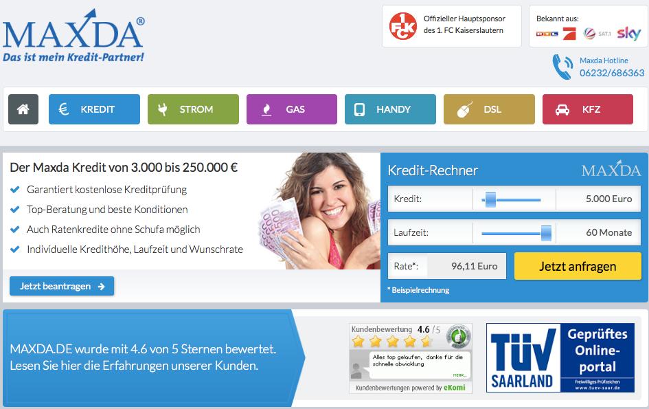 Kreditvermittler Maxda