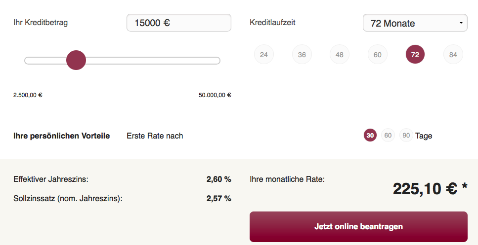Onlinekredit.de Kredit-Rechner