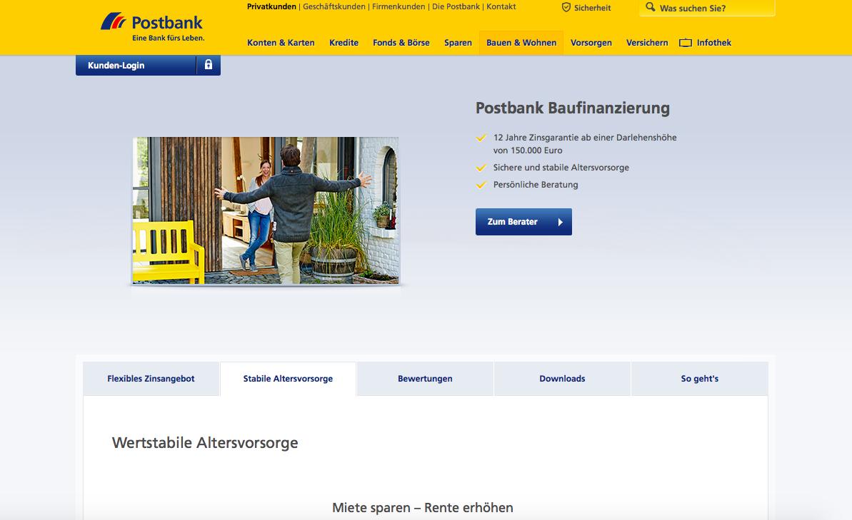 Postbank Baufinanzierung