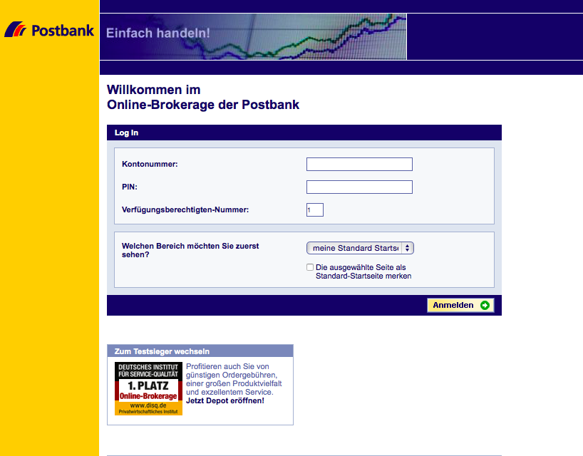 Postbank Online- Brokerage