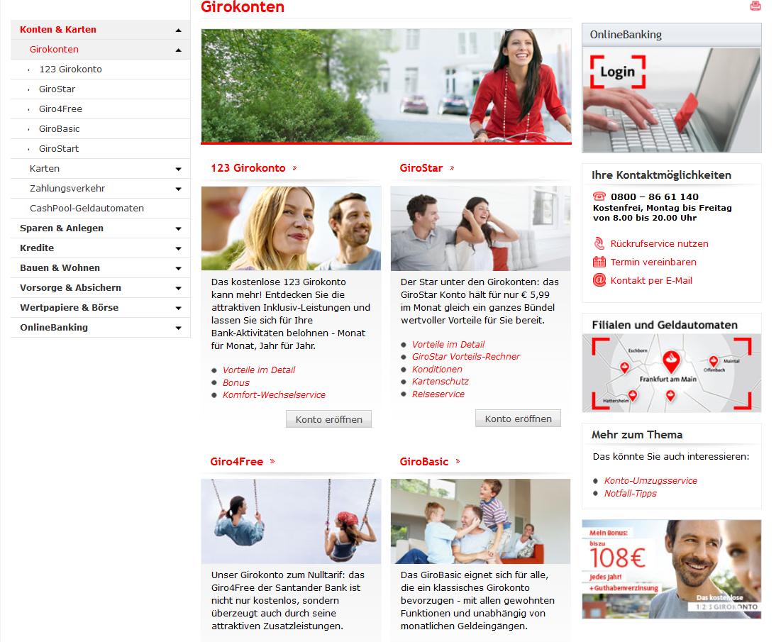 Das Angebot der Santander Bank im Überblick