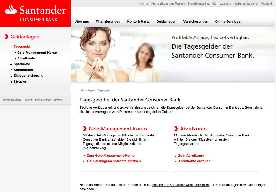 Tagesgeld Santander Bank