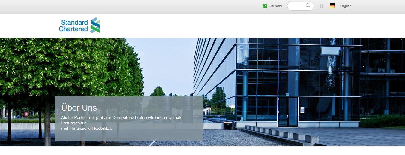 Die Standard Chartered Homepage
