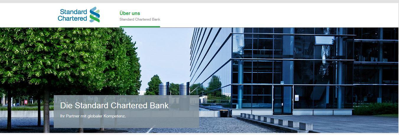 Die Homepage der deutschen Standard Chartered