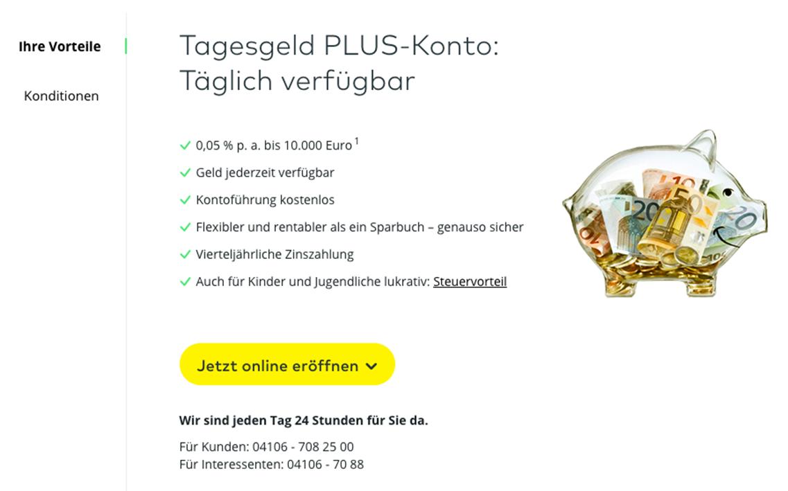 Tagesgeld Plus-Konto von Comdirect