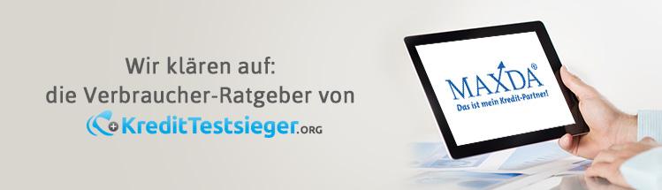 Maxda Kreditvermittler Erfahrungen auf kredittestsieger.org