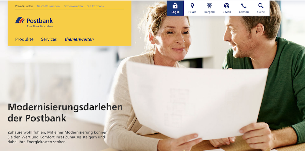 Postbank Modernisierungskredit
