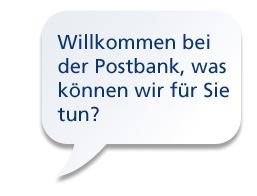 Aktionen über das Telefon Banking der Postbank