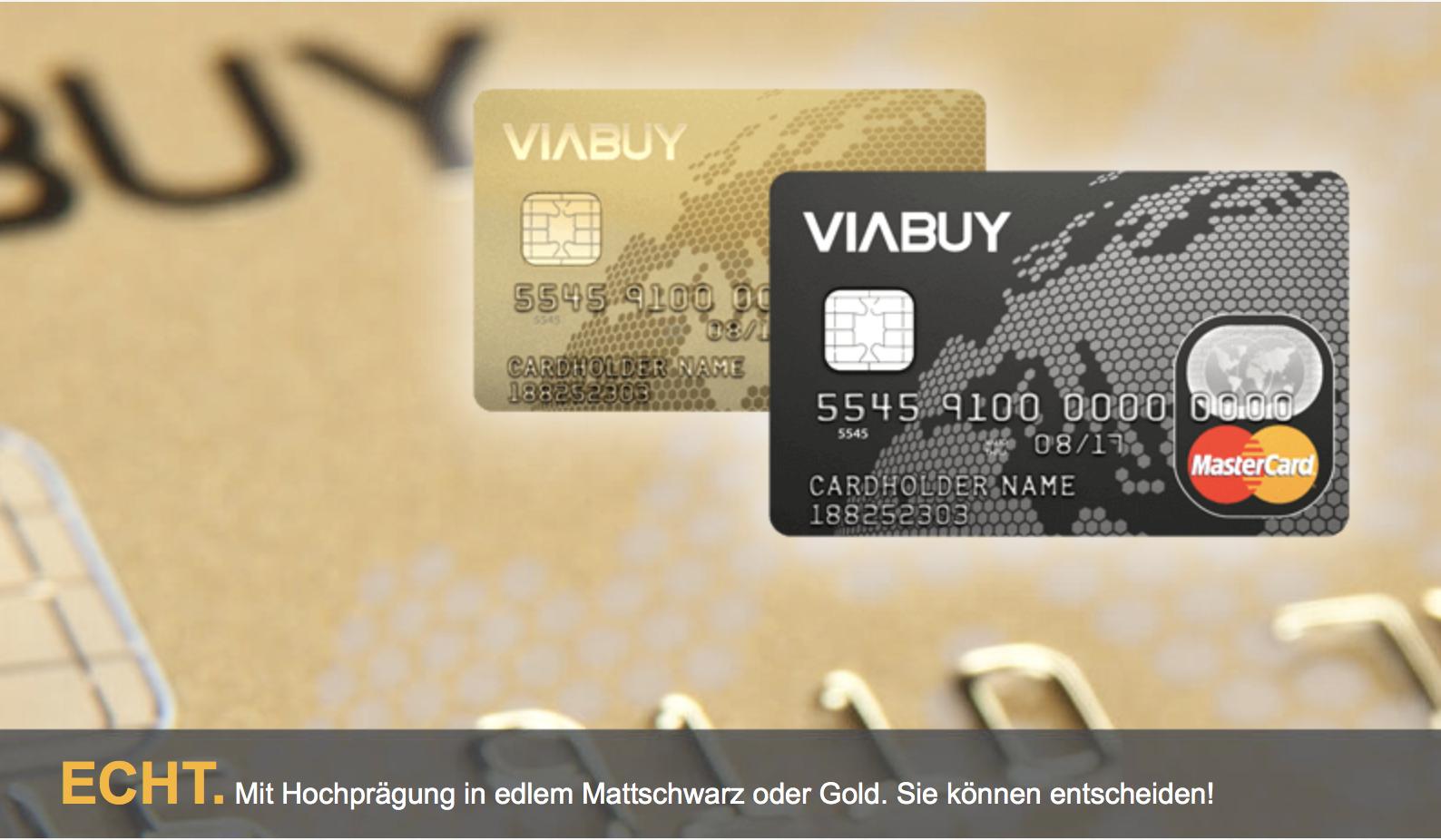 VIABUY bietet eine schufafreie Prepaid MasterCard.