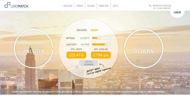 Giromatch Webseite