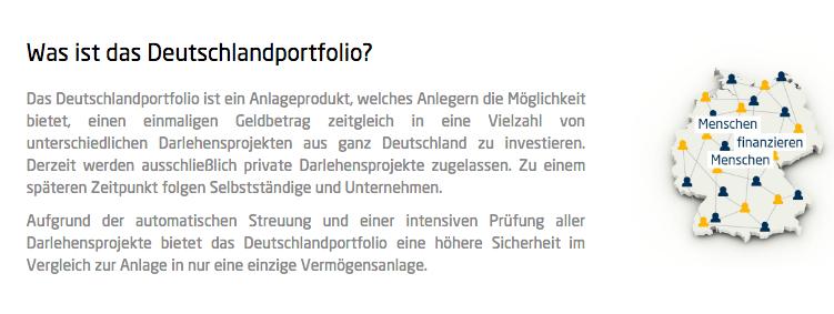 Ein weiteres Produkt von Giromatch: das Deutschlandportfolio