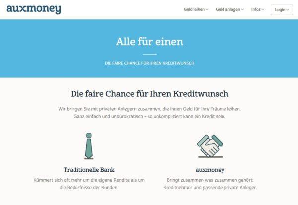 auxmoney: Vergleichen lohnt bei privaten Kreditplattformen