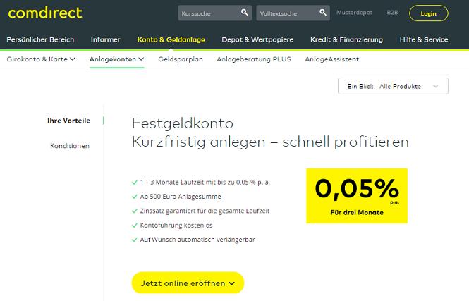 comdirect Festgeld