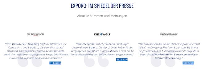 Exporo Presse