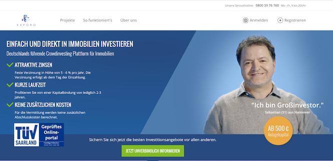 Exporo Erfahrungen von Kredittestsieger.org