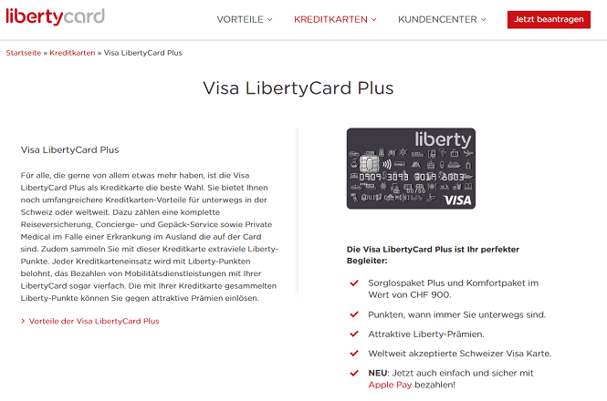 Visa LibertyCard Plus