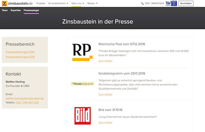 Zinsbaustein.de Presse