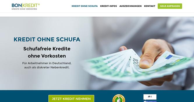 Bon Kredit Kredit ohne Schufa