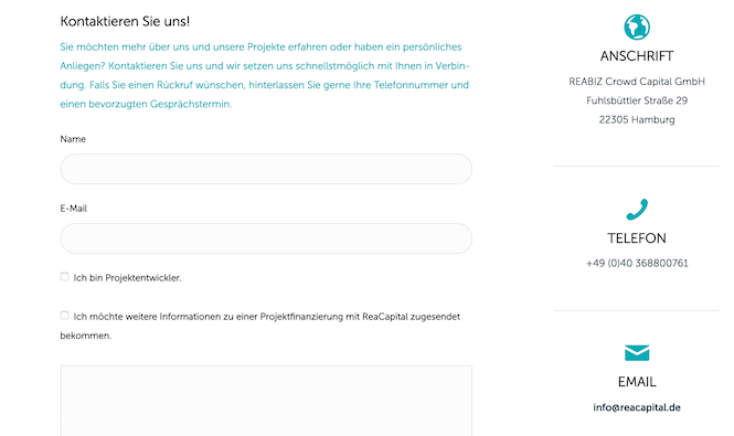 ReaCapital Kundensupport