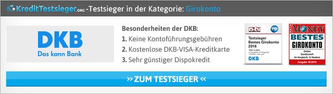 Online Girokonten Vergleich auf KreditTestsieger.org