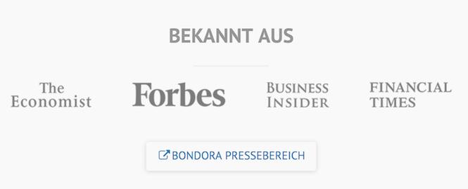 Bondora Presse