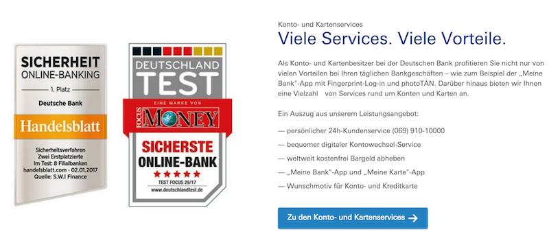 Deutsche Bank Auszeichnungen