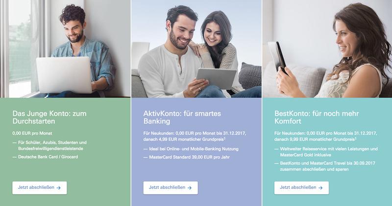Deutsche Bank Girokonto Erfahrungen von Kredittestsieger.org