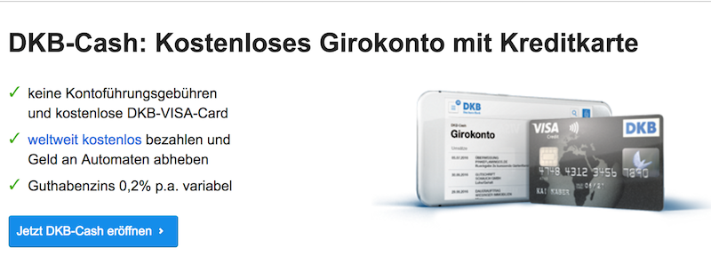 Das kostenlose Girokonto mit einer VISA-Card - DKB Cash