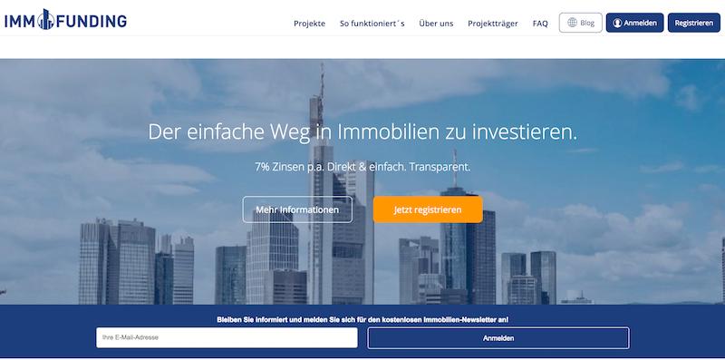 IMMOFUNDING Erfahrungen von Kredittestsieger.org