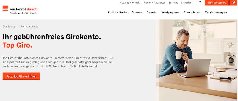Wüstenrot direct Girokonto Erfahrungen von KreditTestsieger.org