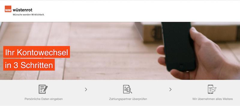 Wüstenrot direct Kontowechsel-Service