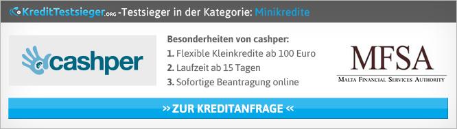 Minikredit Rechner von Kredittestsieger.org