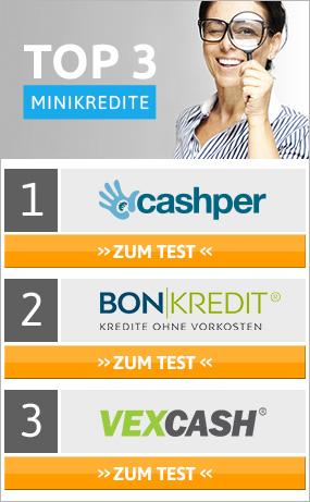Minikredit Vergleich 2018 » Testsieger: Bester Minikredit im Test