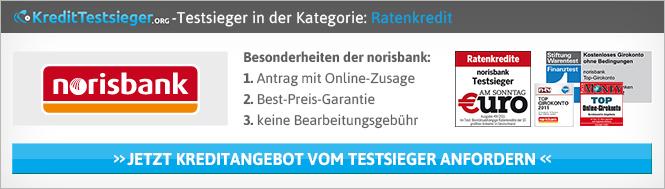 Norisbank Erfahrungen von Kredittestsieger.org