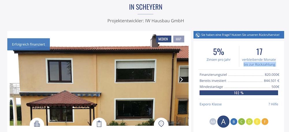 Exporo Projekt Scheyern