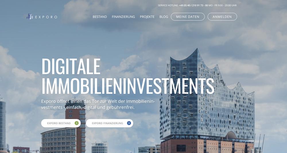 Online in Immobilien investieren bei einem der führenden Crowdinvesting-Plattformen - Exporo