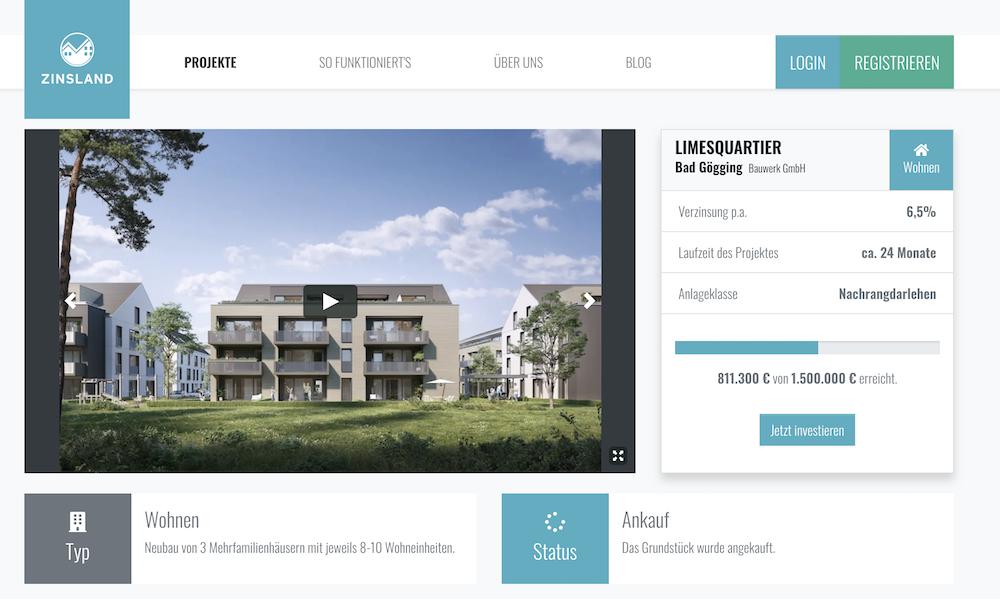 Zinsland Limesquartier Projektbeschreibung
