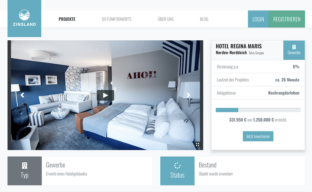 Zinsland Hotel Regina Maris Projektbeschreibung