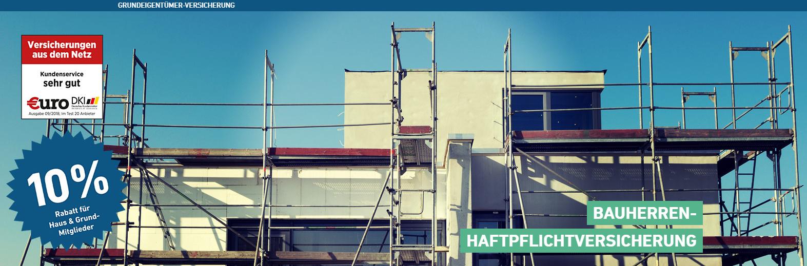 Privathaftpflichtversicherung- Vergleich Bauherren