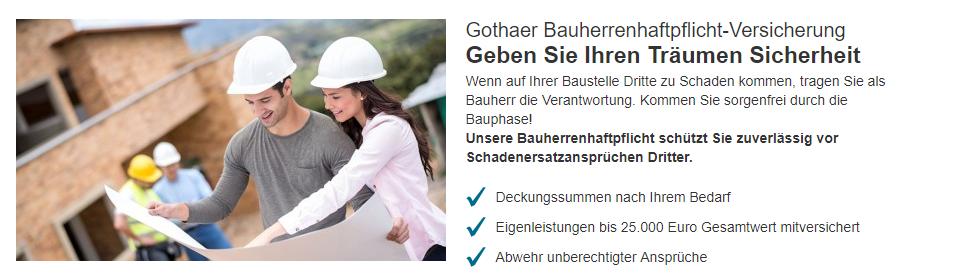 Gothaer Bauherrenhaftpflichtversicherung