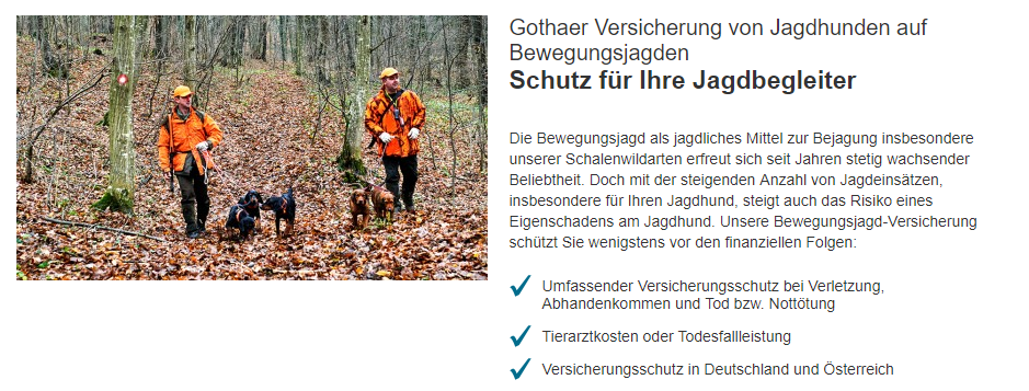 Gothaer Privathaftpflichtversicherung Jagdbegleiter
